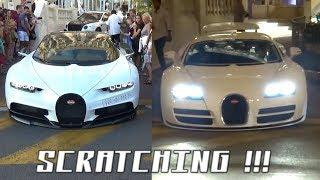 Download SCRATCHING 2.700.000 € Bugatti Chiron & 2.300.000 € Veyron Supersport ! Video