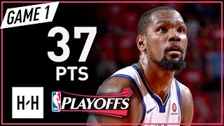 Download Kevin Durant Full Game 1 Highlights Warriors vs Rockets 2018 NBA Playoffs WCF - 37 Pts, SICK! Video