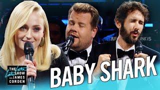 Download The Biggest 'Baby Shark' Ever w/ Sophie Turner & Josh Groban Video