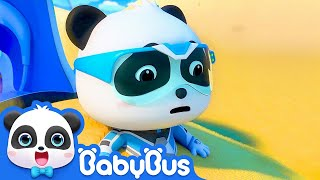 Download Super Panda Trapped in Desert | Super Panda Rescue Team | BabyBus Cartoon Video
