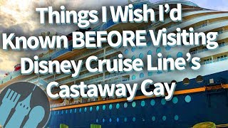 Download Disney Cruise Line: Things I'd Wish I'd Known Before Visiting Castaway Cay! Video