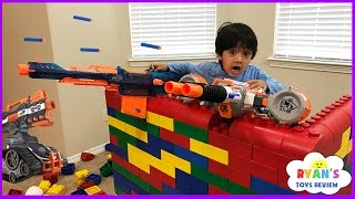 Download Nerf Gun War Kid vs Daddy! Protect the Fort! Family Fun Playtime with Ryan ToysReview Video