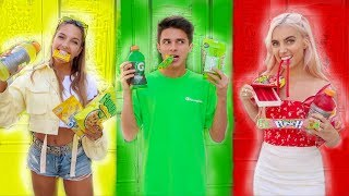 Download EATING ONLY ONE COLORED FOOD FOR 24 HOURS | Brent Rivera Video
