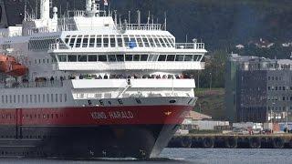 Download Hurtigruten visiting Bodø en route to Lofoten, Norway 4K Quality. Video