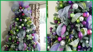 Download HOW TO DECORATE A CHRISTMAS TREE WITH DECO MESH | DECK THE HALLS Pt 3 Video