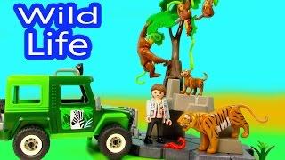 Download Playmobil Wild Life Truck Jungle Animals Mom Baby Tigers Orangutan Playset Blind Bag Opening Video