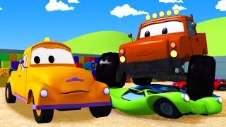 Download Tom The Tow Truck and the Monster Truck in Car City | Construction cartoon (for children) Video