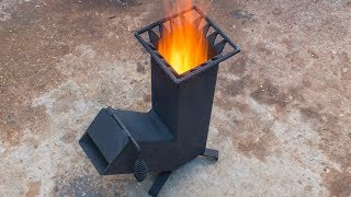 Download Homemade wood burning Rocket stove Video