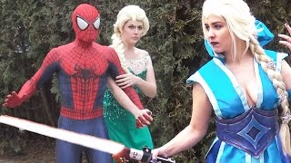 Download JEDI ELSA vs SITH ELSA - Spider-Man Frozen Star Wars PARODY Video