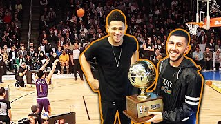 Download DEVIN BOOKER WINS 3 PT CONTEST! *HE GAVE ME THE TROPHY* Video