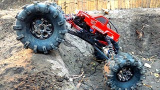Download MASSIVE TIRES + Toyota Body ='s a MONSTER TRUCK! MOA in the Backyard Scale Park | RC ADVENTURES Video
