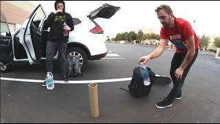 Download EPIC EXACT FIT BOTTLE FLIP! (While My Friends Skate!) Video