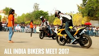 Download stunts on pulsar RS200 by team REV LIMITZ @ All India Bikers Meet, 2017. Video