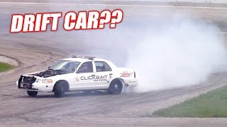 Download Attempting to Drift Our 900hp Retired Cop Car! +James' Wedding Burnout! Video