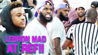 Download ″COACH″ LEBRON JAMES GETS HEATED AT REF at ″HOODIE BRONNY'S″ GAME! HYPEST INTENSE GAME OF THE YEAR!! Video