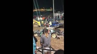 Download Scuffle at Walworth County Fair's demolition derby Video