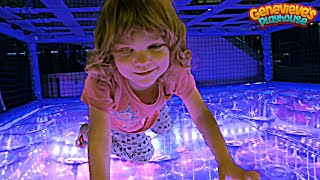 Download Family Fun with Cute Kid Genevieve at the Indoor Playground! Video
