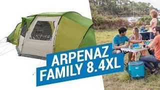 Download Палатки Семейные. ARPENAZ FAMILY 8.4XL Установка большой палатки | Декатлон Video