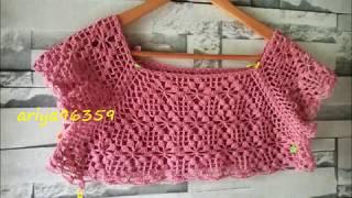Download ถักเสื้อโครเชต์ crochet แบบที่ 13 v.1 ลายไส้มะตูม Video