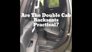 Download Are The Toyota Tundra Double Cab Backseats Practical? Video