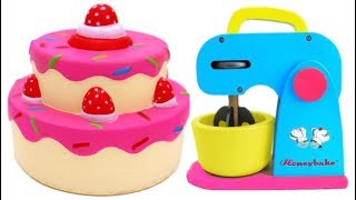 Download Squishy Strawberry Cake Learn Colors Play Doh and Microwave Playset for Children Video