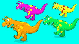 Download Groovy the Martian - Learn the colors with dinosaurs & Dinosaurs for kids full episode! Video