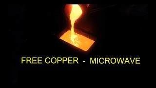 Download Free Copper - Copper Bar from a Microwave Oven Video