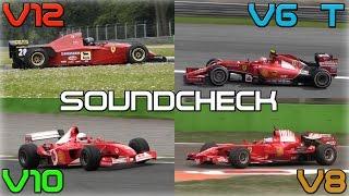 Download One Brand, One Racetrack: Ferrari F1 Engines Soundcheck - 2014 V6 Turbo, V8, V10, V12 Video
