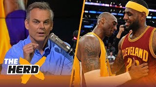 Download Colin Cowherd details why Kobe's fans are terrified of LeBron James | NBA | THE HERD Video