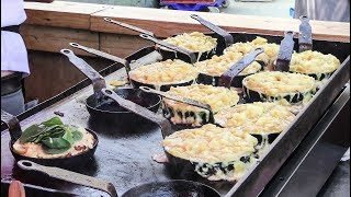 Download Street Food at Partridges Market, London. Melted Cheese, Huge Beef, Oysters and More Video