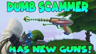 Download Dumb Scammer Has *NEW* GUNS!! (Scammer Gets Scammed) Fortnite Save The World Video