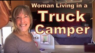 Download Fearless Retired Woman Living in a Lance Truck Camper Video