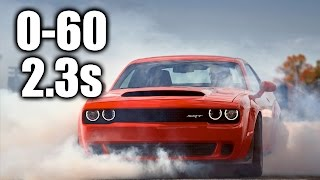 Download How The Dodge Demon Hits 60 MPH In 2.3 Seconds! Video