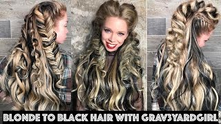 Download Blonde to Black Hair with Grav3yardgirl Video