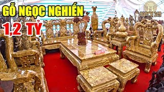 Download Chiêm ngưỡng bộ bàn ghế Ngọc Nghiến có giá khủng ở Hà Nội Video