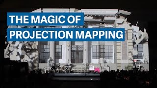 Download The magic of 3D projection mapping Video