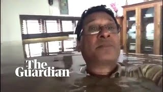 Download Kerala floods: man, neck-deep in water, appeals for help from inside his house Video