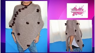 Download DIYment tricoter un poncho. Très facile!// How to knit a poncho.Very easy! Video