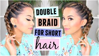 Download How To Double Dutch/French Braid For Short Hair Hairstyle! Video