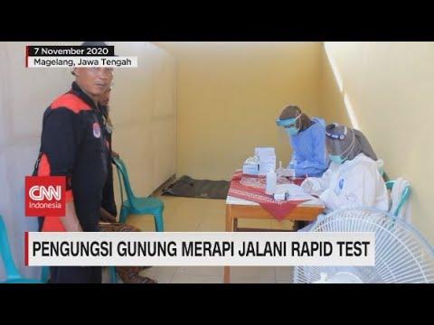 Pengungsi Gunung Merapi Jalani Rapid Test