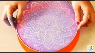 Download How to use stencil for rangoli design Video