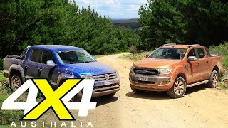 Download Volkswagen Amarok V6 vs Ford Ranger Wildtrak | Road test | 4X4 Australia Video