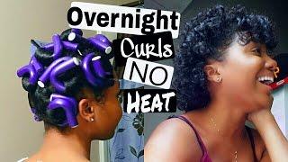 Download QUICK & EASY Overnight HEATLESS CURLS using TEN Flexi Rods! Video