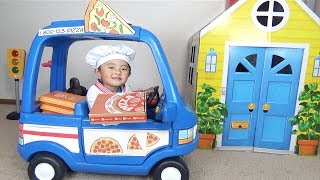 Download Pretend Play Pizza Delivery & Cooking Food Kitchen Toy Set Video