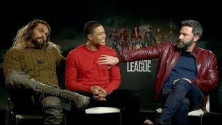 Download Does Ben Affleck like the term ″Batfleck″? Jason Momoa & Ray Fisher JUSTICE LEAGUE Interview Video