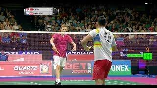 Download TOTAL BWF World Championships 2017   Badminton F M3-MS   Lin Dan vs Viktor Axelsen Video
