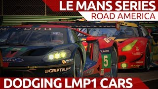 Download Dodgeball with LMP1 cars! iRacing Le Mans Series at Road America Video