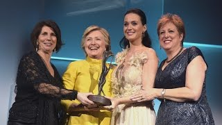 Download Hillary Clinton Makes Surprise Appearance to 'Celebrate' Katy Perry at UNICEF Snowflake Ball Video