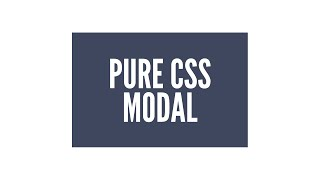 Download Pure CSS Animated Modal/Lightbox Video