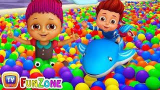 Download Surprise Eggs Ball Pit Show for Kids to Learn ALL Colours | ChuChu TV Funzone 3D for Children Video